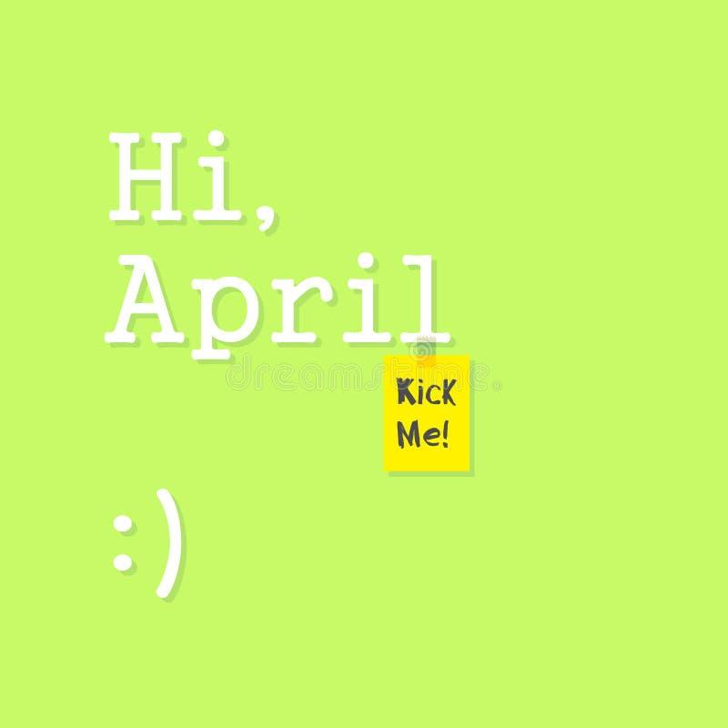 招呼喂4月-传染媒介 向量例证