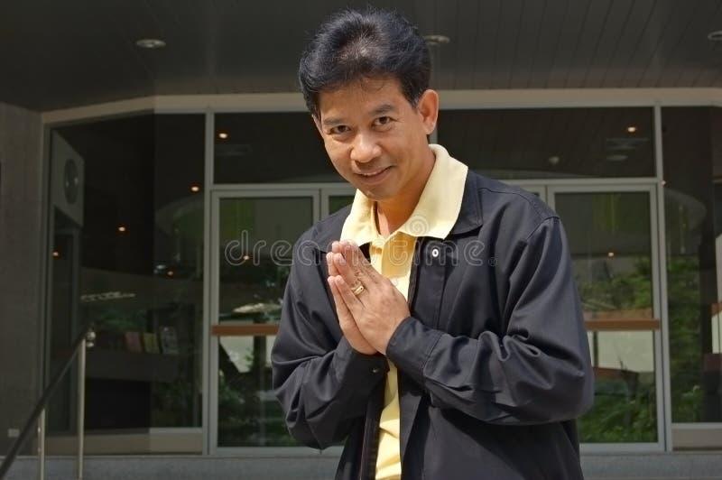 招呼泰国 库存照片