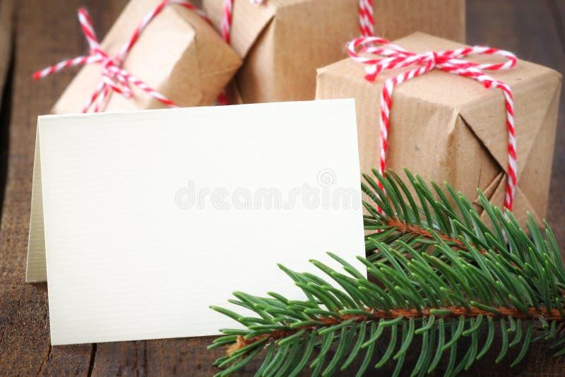 招呼看板卡的cristmas 免版税库存图片