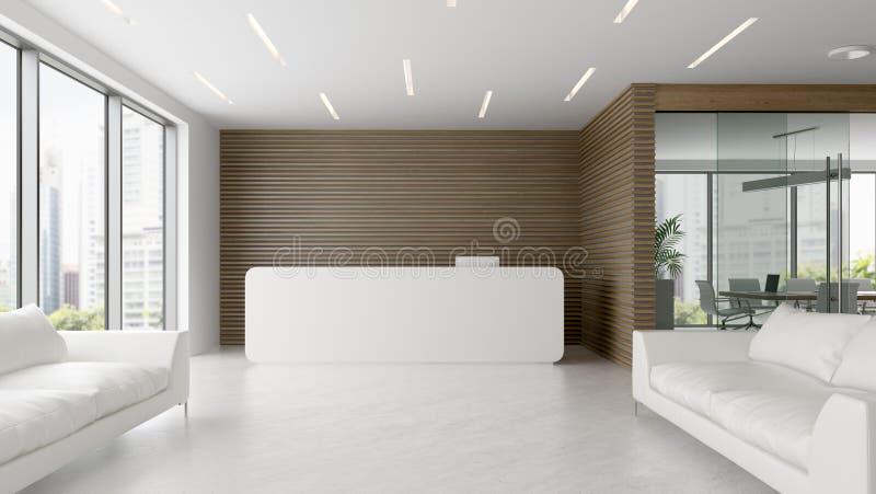 招待会和会议室3D例证内部  免版税库存图片