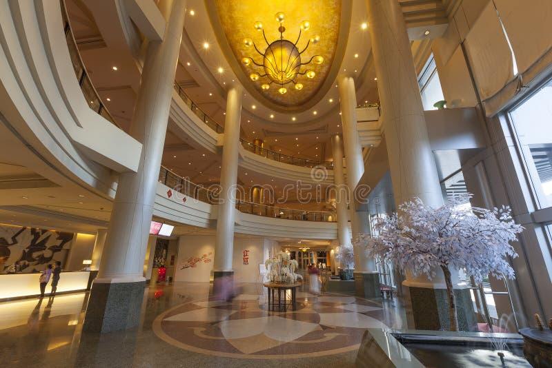 招待会和大厅在奇迹盛大大会旅馆里 库存照片
