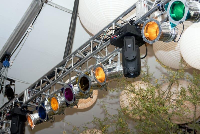 招待照明设备专业人员阶段 免版税库存图片