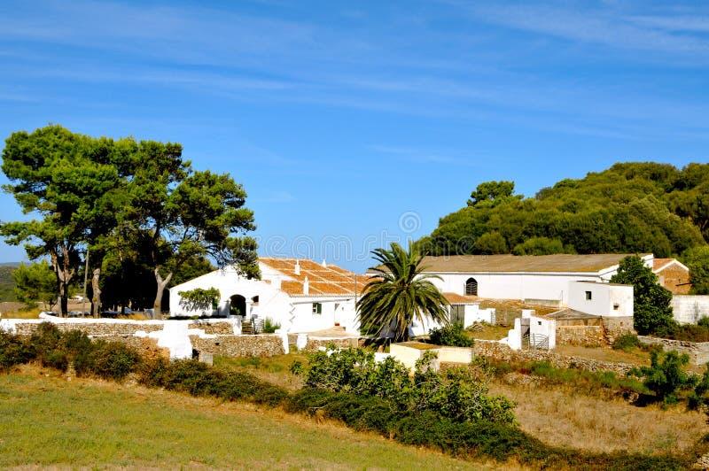 拜雷阿尔斯农厂海岛menorca老西班牙 库存照片