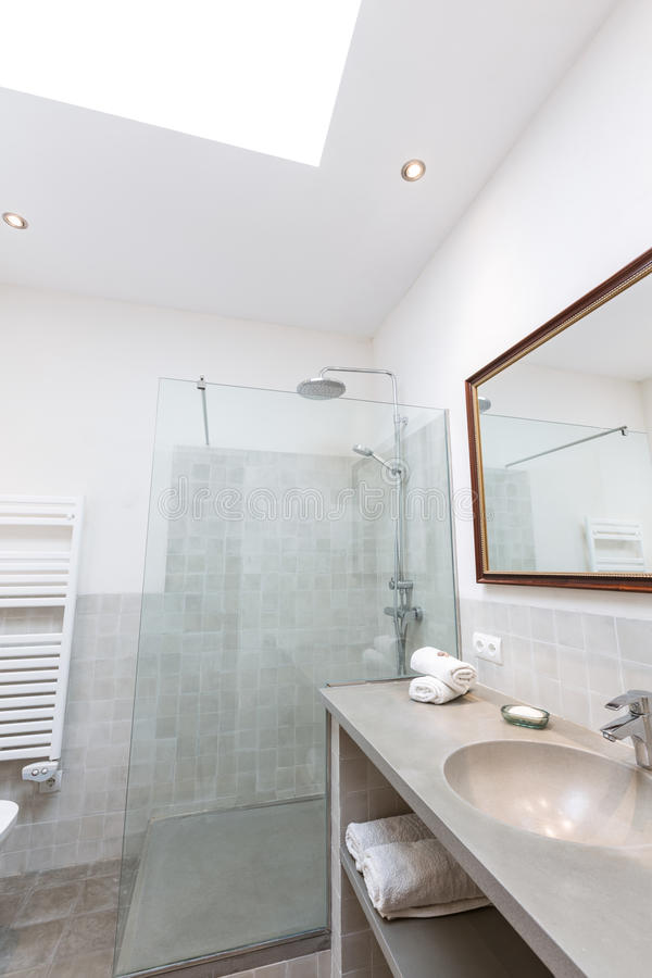 拜雷阿尔斯地中海样式的马略卡拜雷阿尔斯室内房子 免版税库存图片