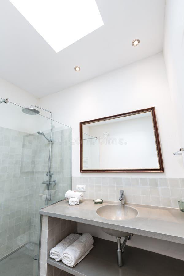 拜雷阿尔斯地中海样式的马略卡拜雷阿尔斯室内房子 免版税图库摄影