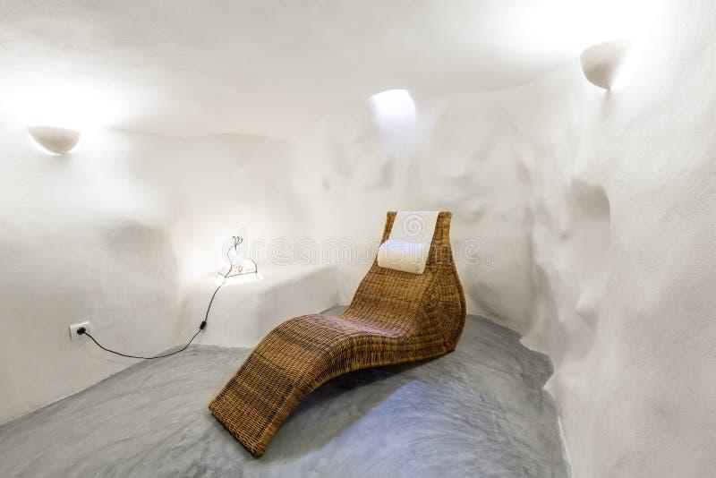 拜雷阿尔斯地中海样式的马略卡拜雷阿尔斯室内房子 图库摄影