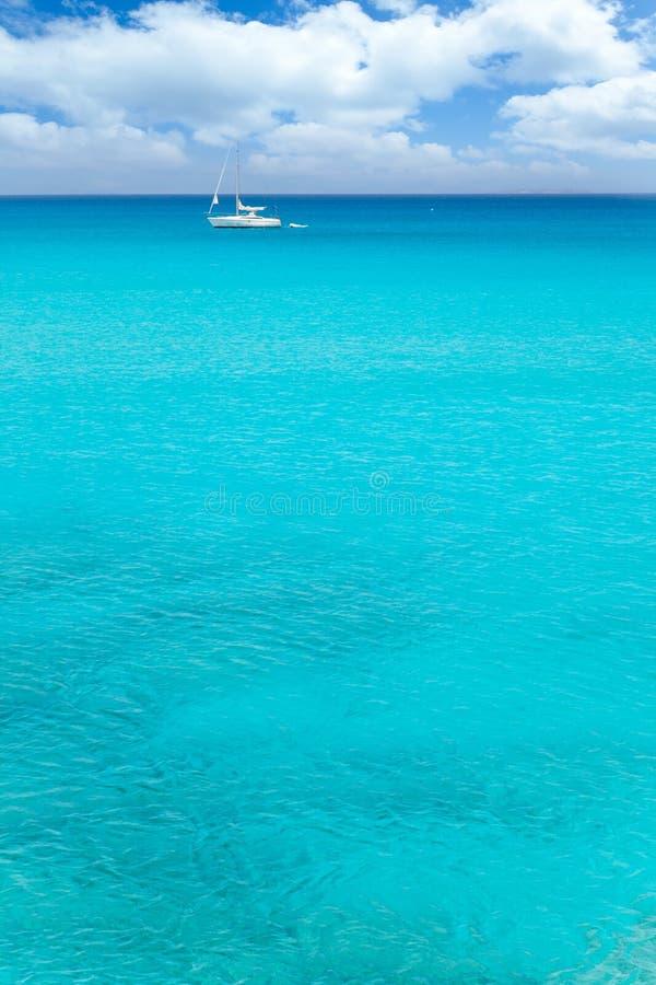拜雷阿尔斯地中海风船海运绿松石 库存照片