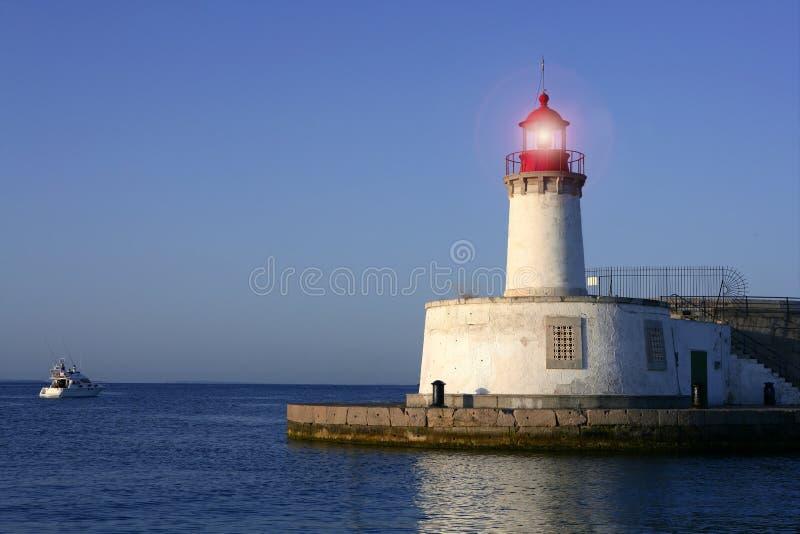 拜雷阿尔斯城市ibiza海岛灯塔 库存照片