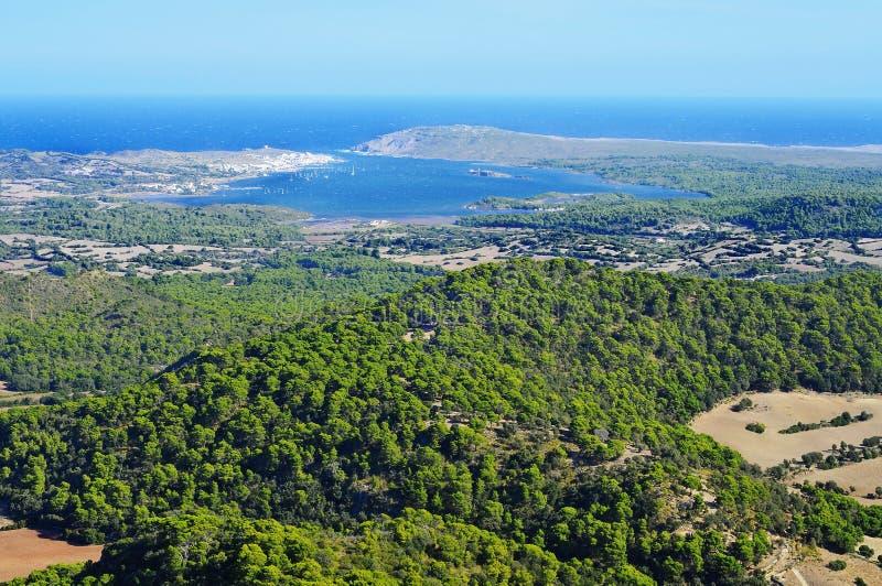 拜雷阿尔斯海湾fornells海岛menorca西班牙 库存图片