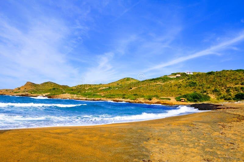 拜雷阿尔斯海滩binimela海岛menorca西班牙 库存照片