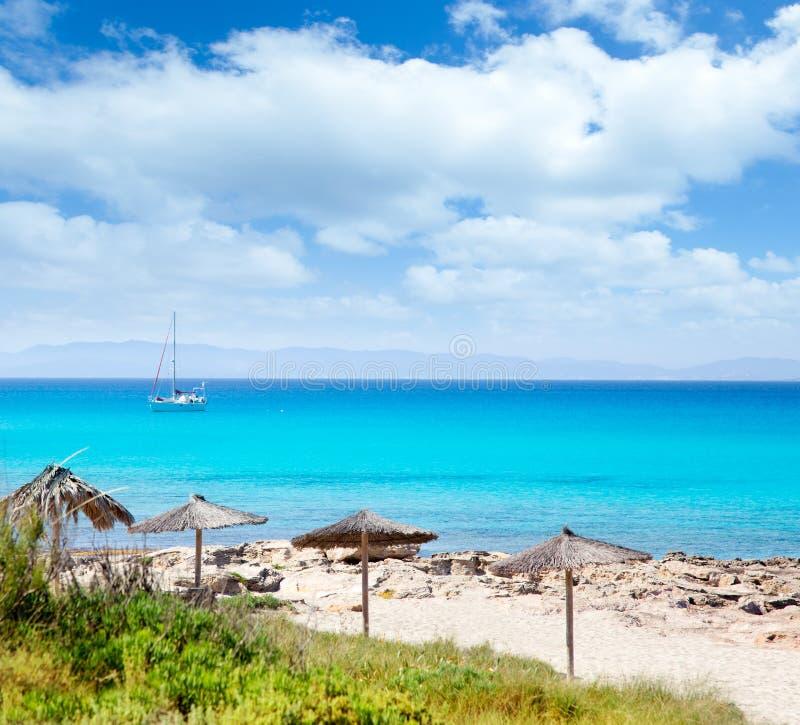 拜雷阿尔斯海滩escalo formentera海岛 免版税库存图片