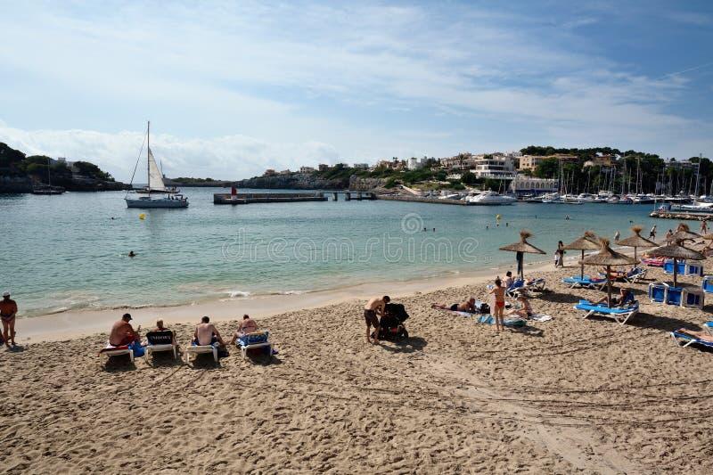 拜雷阿尔斯海滩cristo海岛mallorca波尔图 库存图片