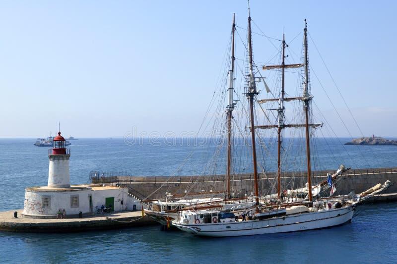 拜雷阿尔斯港口ibiza海岛西班牙 库存图片
