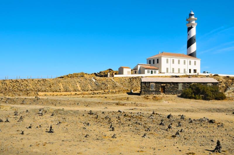拜雷阿尔斯烽火台favaritx海岛menorca西班牙 图库摄影