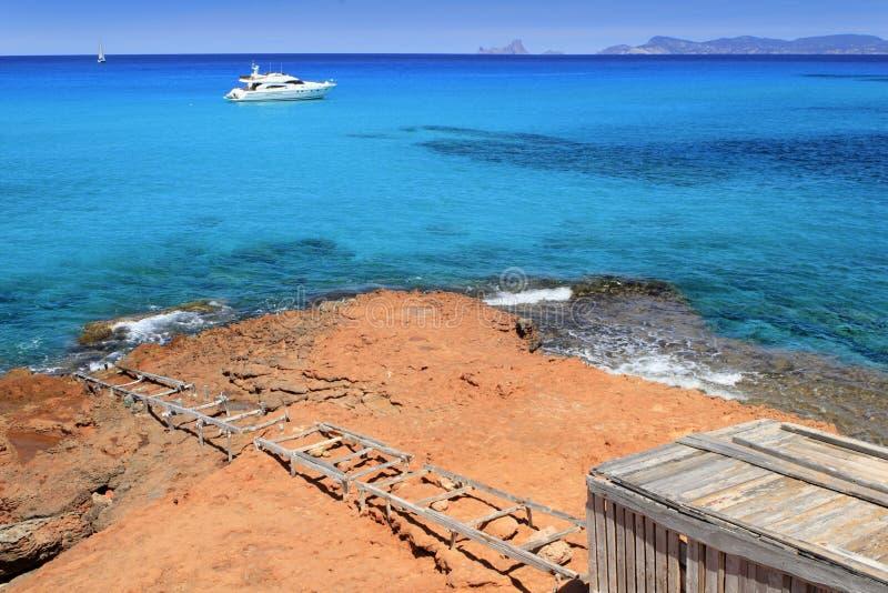 拜雷阿尔斯cala formentera海岛saona 库存照片
