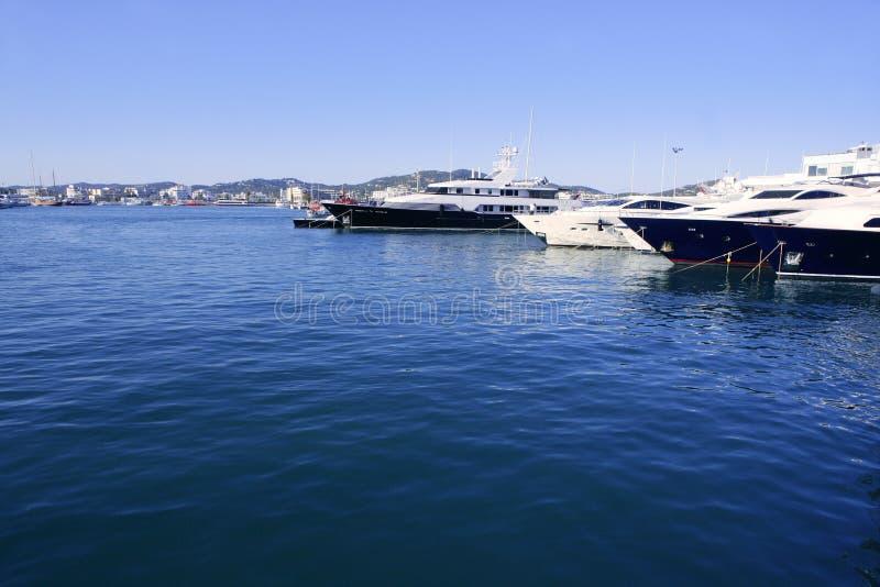 拜雷阿尔斯ibiza海岛地中海西班牙白色 图库摄影