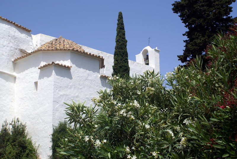 拜雷阿尔斯ibiza海岛西班牙 库存照片