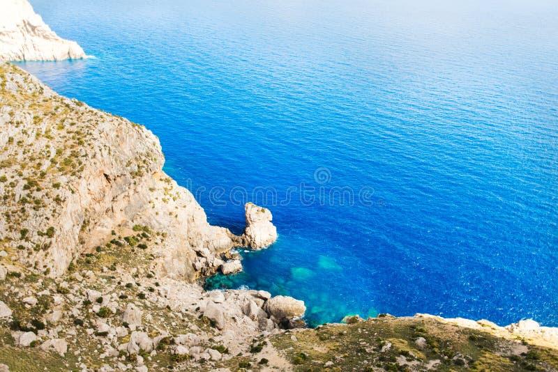 拜雷阿尔斯Mallorca的海岸  库存图片
