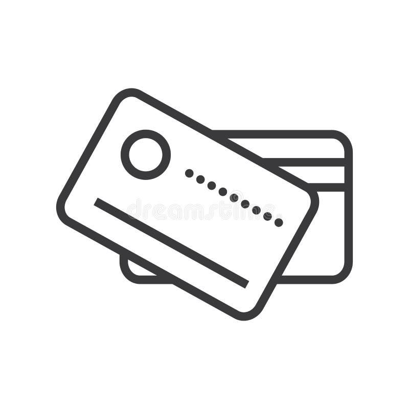 拟订付款传染媒介线象,标志,在背景,编辑可能的冲程的例证 库存例证