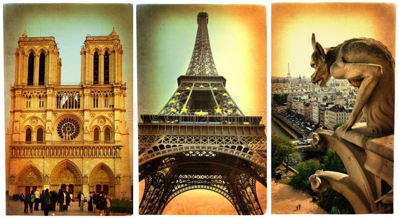拟订减速火箭的巴黎 库存照片