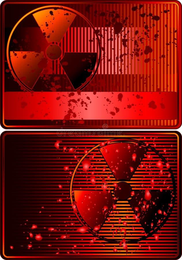 拟订放射性集符号 向量例证