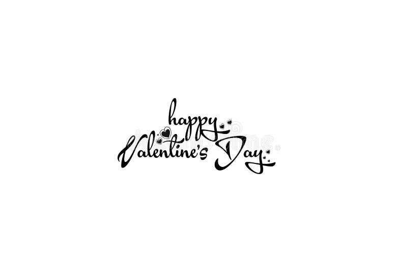拟订爱s二华伦泰的日愉快的重点 愉快的华伦泰` s天字法 向量例证
