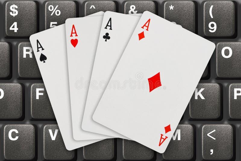 拟订计算机键盘使用 免版税库存照片