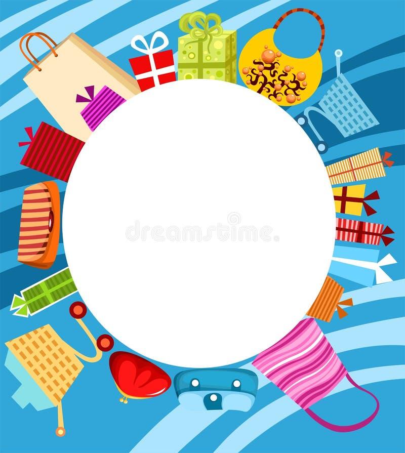 拟订购物 向量例证
