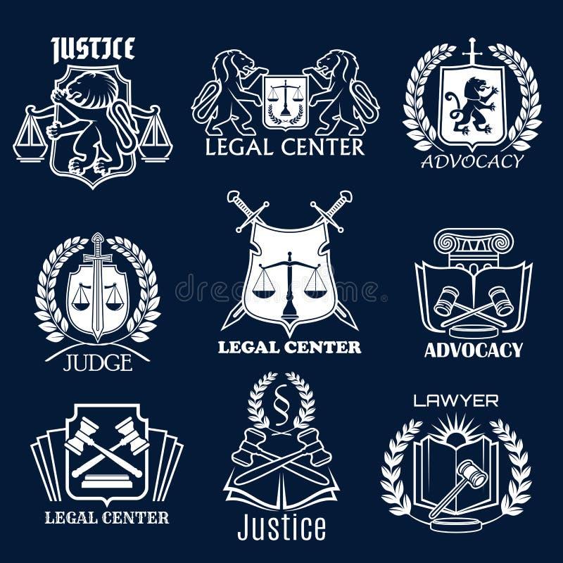 拥护传染媒介象为法定正义律师设置了 向量例证