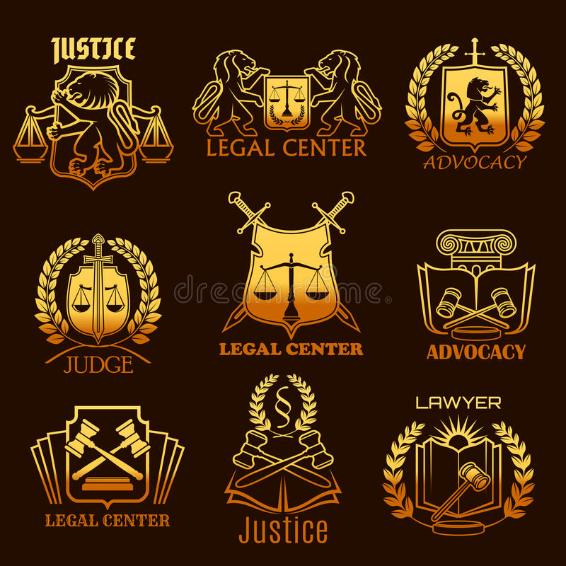 拥护律师传染媒介法律正义金象  向量例证