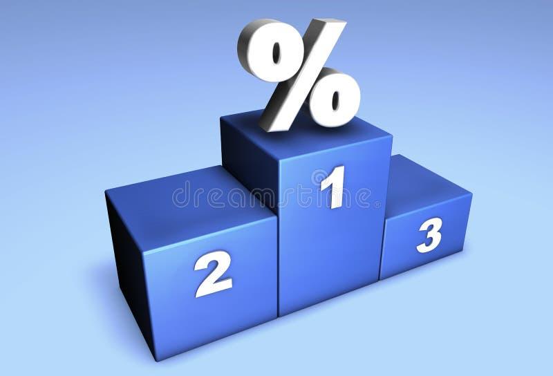 拥护百分比 向量例证