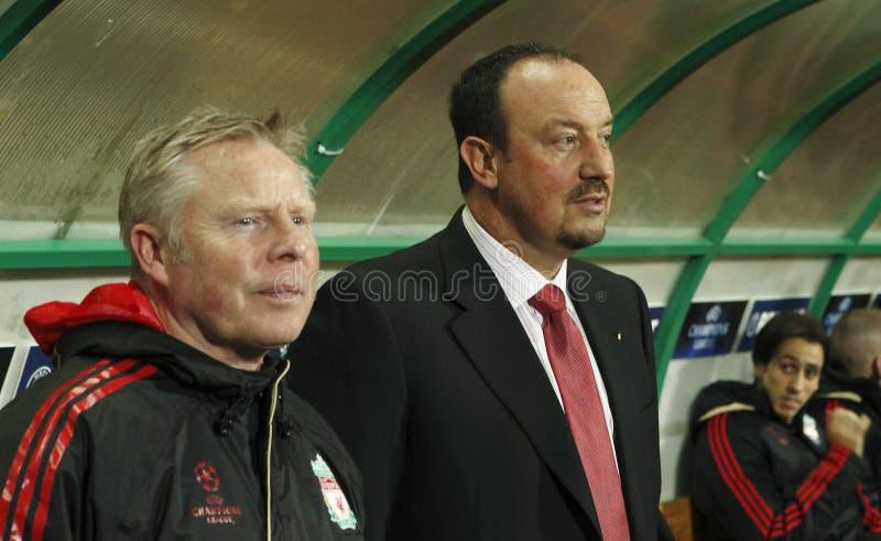 拥护debrecen同盟利物浦符合uefa与 图库摄影
