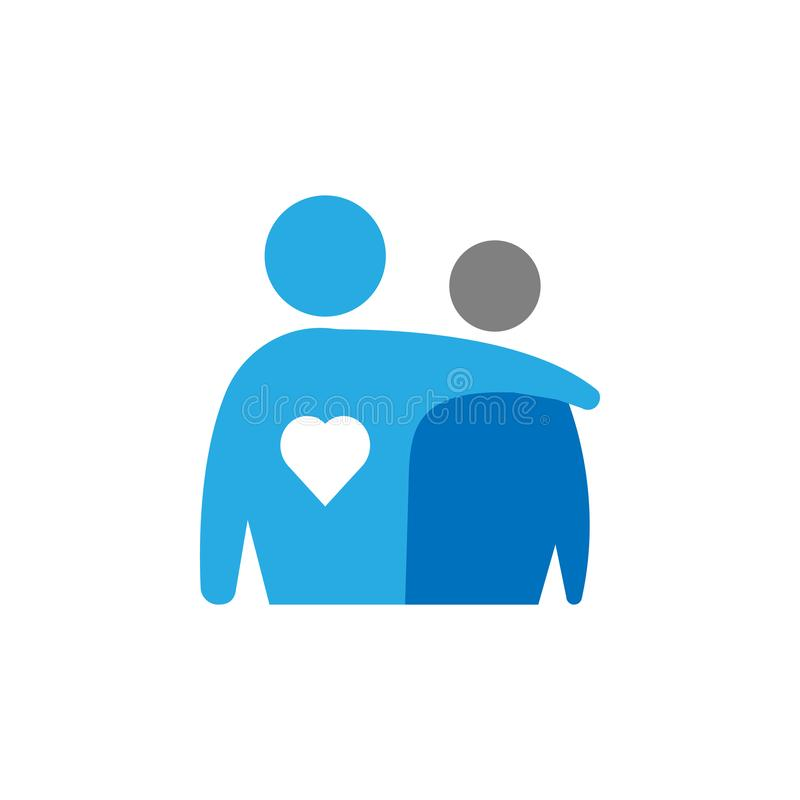 拥抱和支持象 流动概念和网应用程序的用户界面象的元素 可以使用详述的拥抱和支持象 向量例证