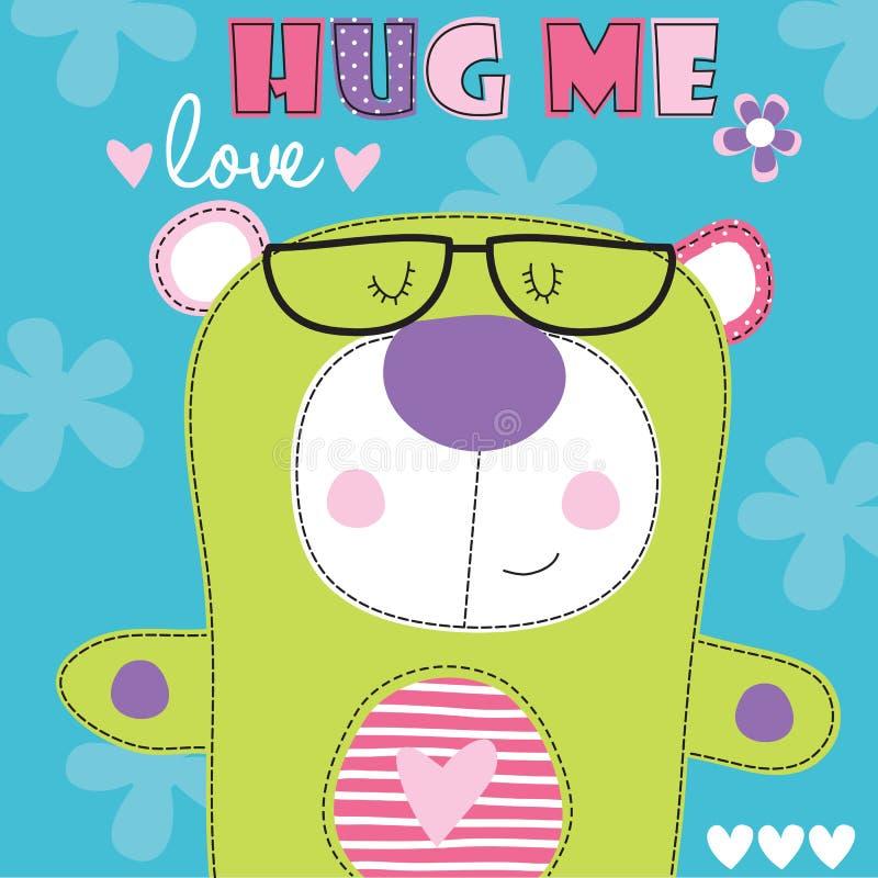 拥抱我玩具熊传染媒介例证 向量例证
