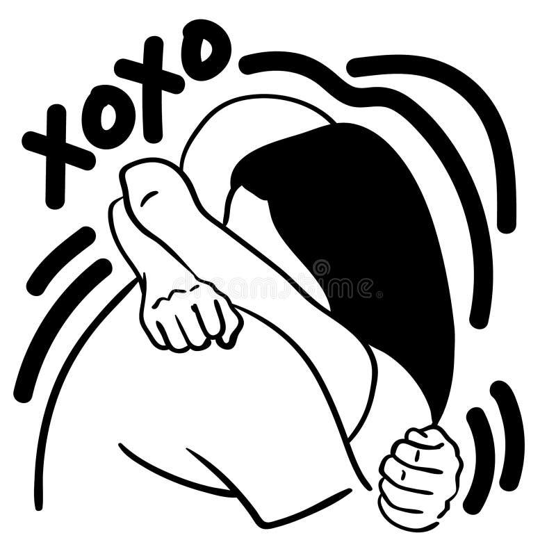 拥抱手拉xoxo的传染媒介eps,传染媒介,Eps,商标,象,crafteroks,剪影例证为不同的使用 向量例证