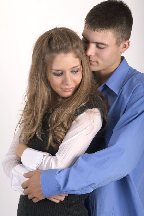 拥抱的夫妇 库存图片