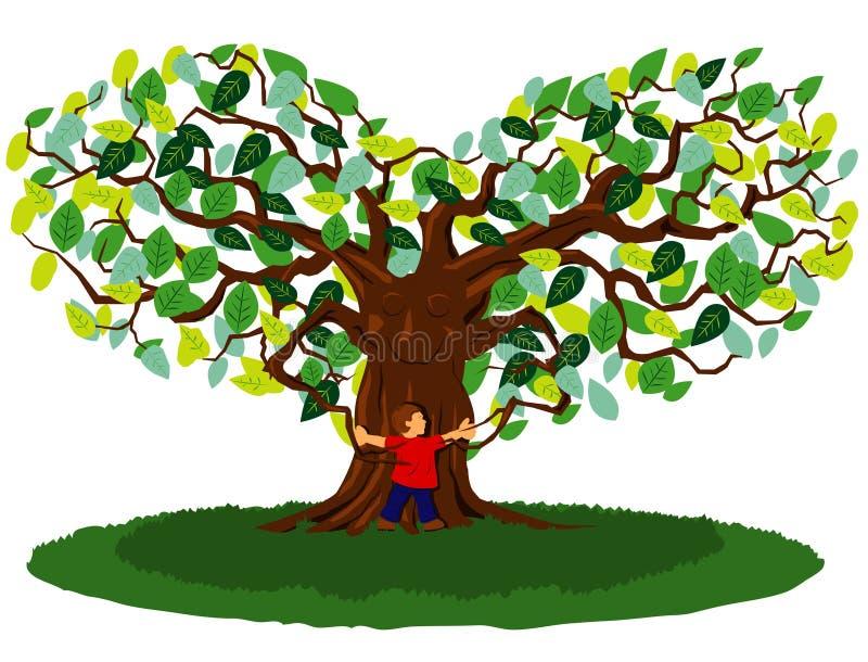 拥抱结构树 向量例证