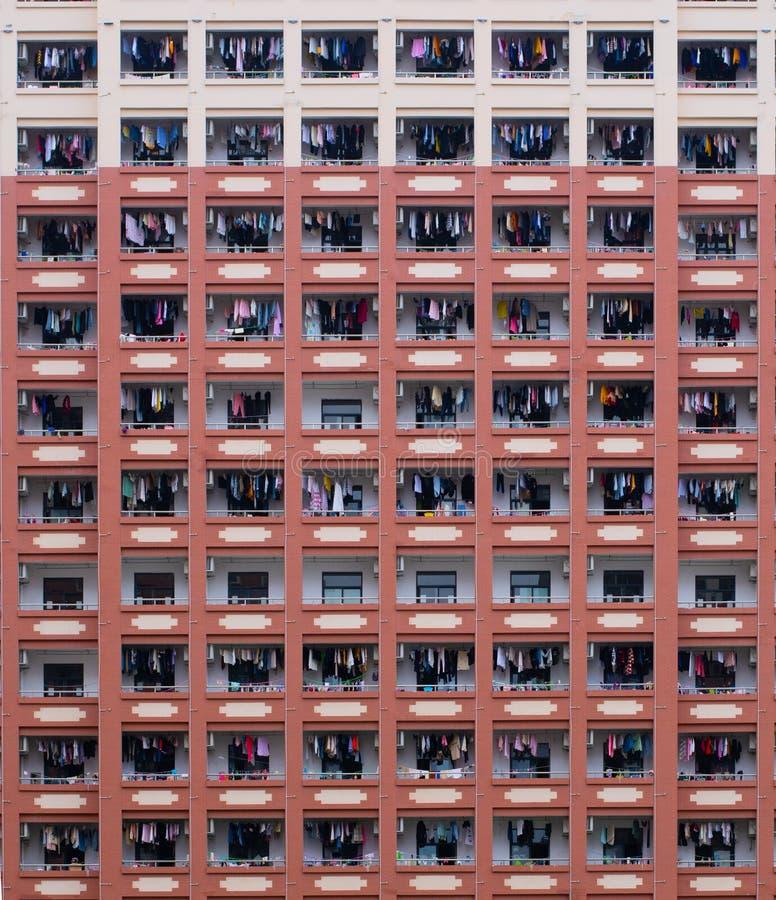 拥挤公寓 图库摄影