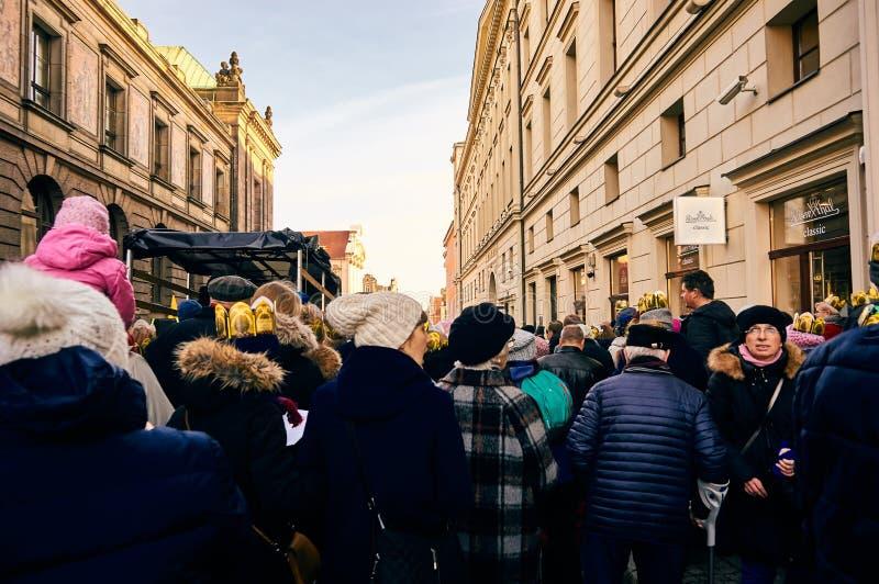 拥挤街道在城市 图库摄影