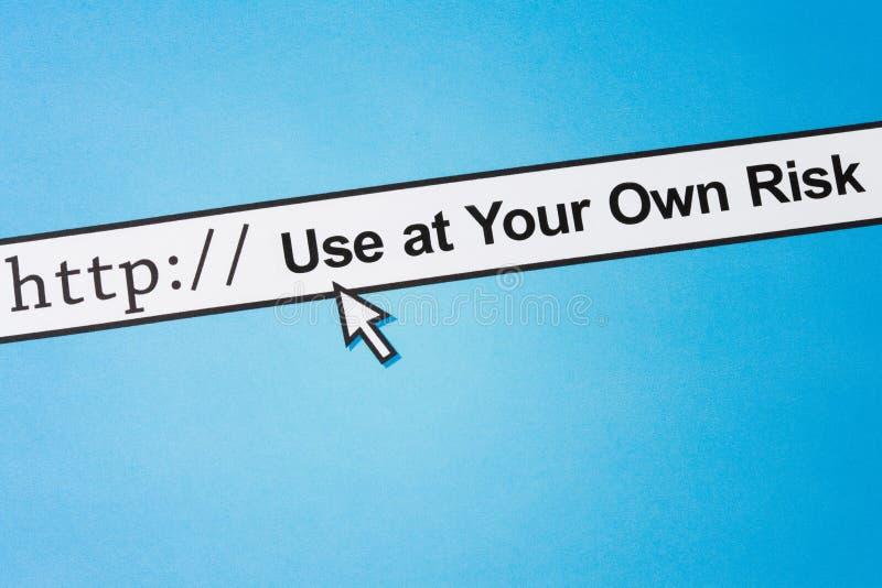 拥有您风险的使用 免版税库存图片