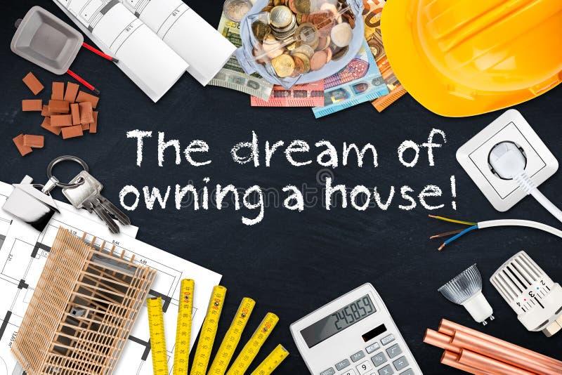 拥有房子概念梦想  库存图片