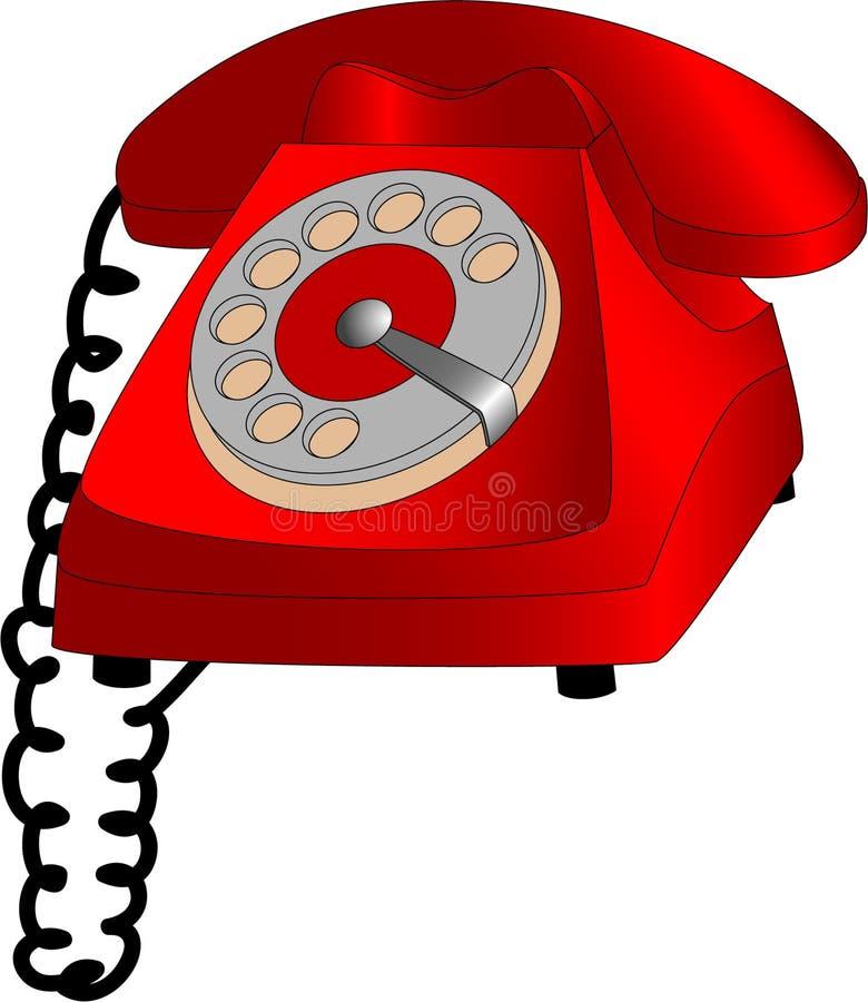 拨号电话 皇族释放例证
