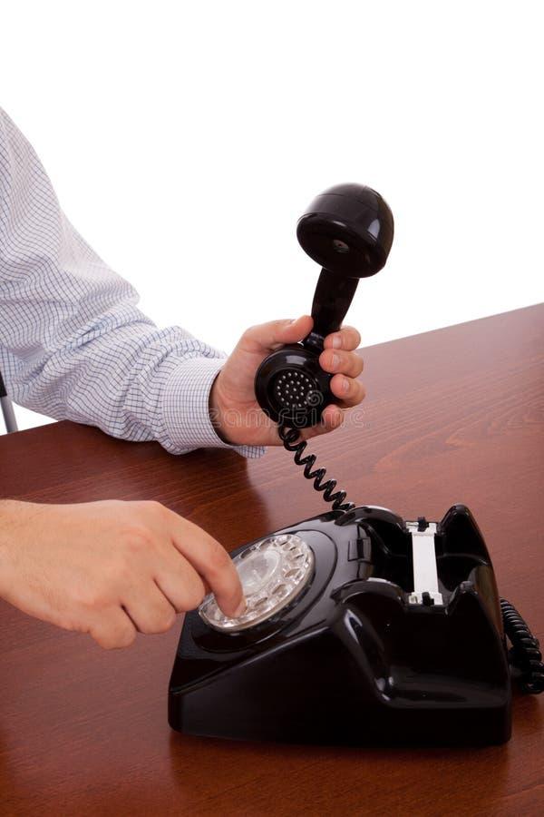 拨号的编号电话 免版税库存照片