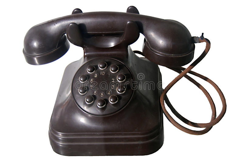 拨号老电话 免版税库存图片