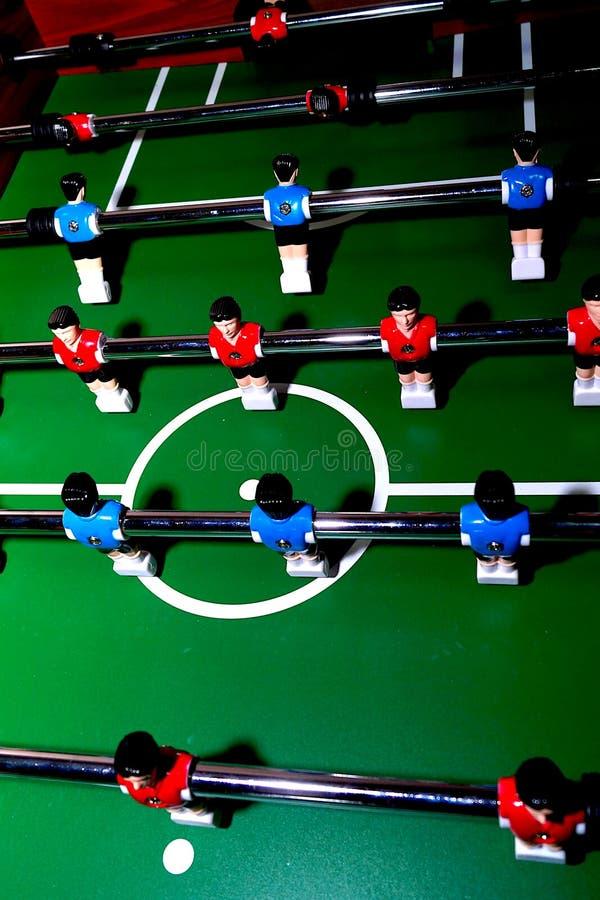 拱廊与工具的桌足球为使用办公室和主场比赛的 库存图片