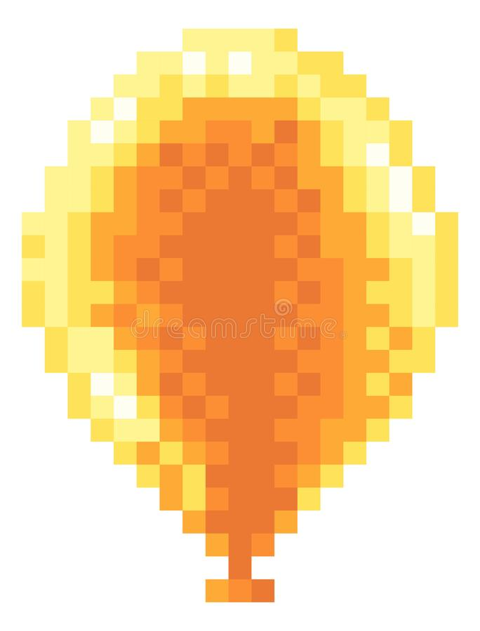 拱廊电子游戏映象点艺术8被咬住的气球象 向量例证