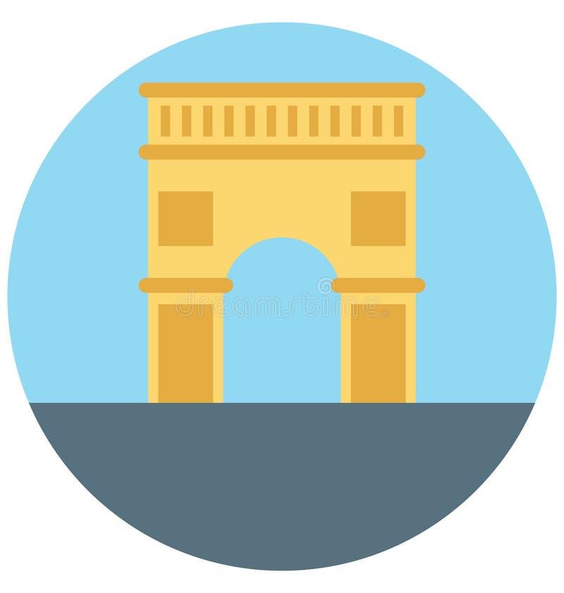 拱道例证颜色传染媒介休闲、旅行和游览的被隔绝的象容易的编辑可能和特别用途 库存例证