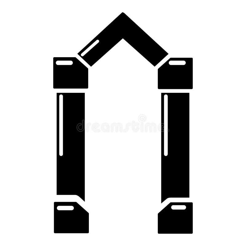 拱道元素象,简单的黑样式 向量例证
