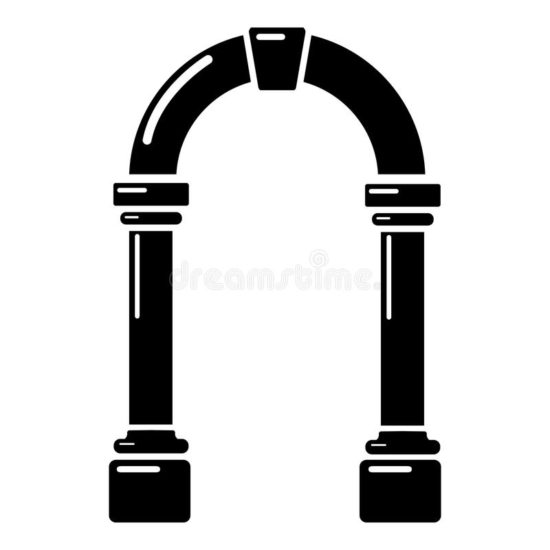 拱道具体象,简单的黑样式 皇族释放例证