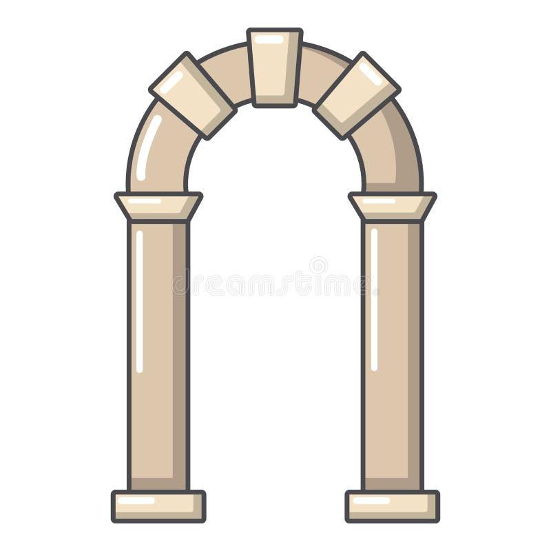 拱道古老象,动画片样式 向量例证